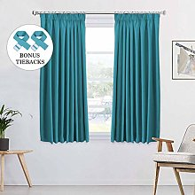H.Versailtex Blackout Window Curtains Pencil Pleat
