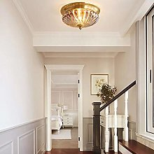 H.Y.FFYH Pendant Light Copper Door Entrance Lamp