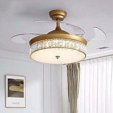 H.Y.FFYH Pendant Light Crystal Ceiling Fan Light