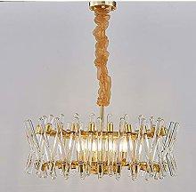H.Y.FFYH Pendant Light Gold Copper Chandelier
