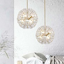 H.Y.FFYH Pendant Light LED Glass Ball Chandelier
