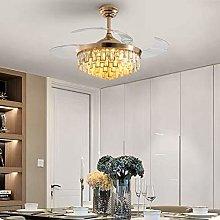 H.Y.FFYH Pendant Light Light Crystal Ceiling Fan