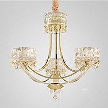 H.Y.FFYH Pendant Light Living Room Crown Crystal