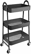 H.ZHOU Storage Trolleys Multifunction Cart Black