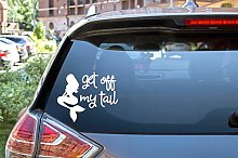 H421ld Mermaid Get Off My Tail DECAL - Cool Car