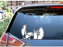 H421ld Peeking Stitch DECAL - Cool Car Decals -