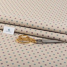 Haaris Imaan Polka Dot Upholstery Fabric by The