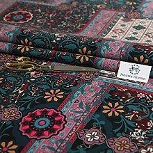 Haaris Imaan Printed Ethnic Velvet Upholstery