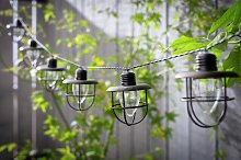 Habitat 10 Warm White Caged Bulb LED Solar String