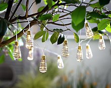 Habitat 10 Warm White Wire Wrap LED Solar String