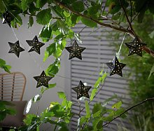 Habitat 10 White LED Punched Star Solar String