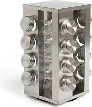 Habitat 16 Jar Stainless Steel Revolving Spice Rack
