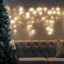 Habitat 160 Warm White Icicle String Lights - 8m