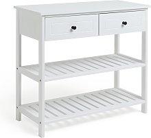 Habitat 2 Drawer Console Table - White