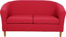 Habitat 2 Seater Fabric Tub Sofa - Red