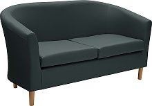 Habitat 2 Seater Faux Leather Tub Sofa - Black