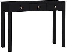Habitat 3 Drawer Osaka Dressing Table Desk - Black