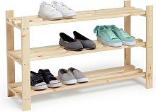 Habitat 3 Shelf Shoe Storage Rack - Solid