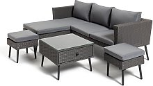 Habitat 5 Seater Rattan Corner Sofa Set - Grey