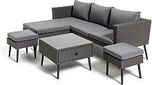 Habitat 5 Seater Rattan Corner Sofa Set - Grey