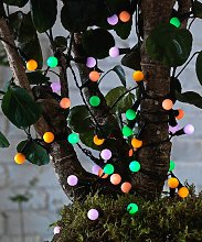 Habitat 50 Multicoloured Berry Solar String Lights