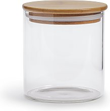 Habitat 660ml Glass Jar with Bamboo Lid
