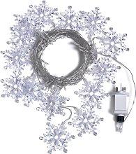 Habitat 70 Snowflake Curtain LED Lights - White