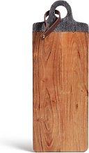 Habitat Acacia Long Marble Top Chopping Board