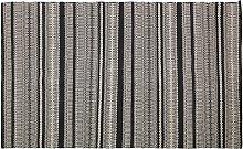 Habitat Agnes Cotton Rug - 120x80cm - Black & Grey