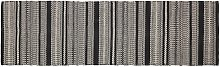 Habitat Agnes Cotton Rug - 65x200cm - Black & Grey