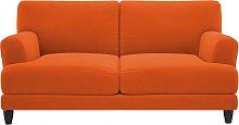 Habitat Askem 2 Seater Velvet Sofa - Orange