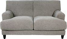 Habitat Askem 2 Seater Woven Stripey Linen Sofa -