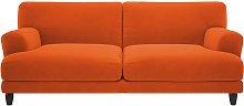Habitat Askem 3 Seater Velvet Sofa - Orange