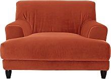 Habitat Askem Velvet Cuddle Chair - Orange