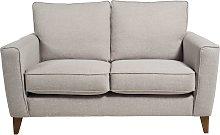 Habitat Aspen 2 Seater Fabric Sofa - Silver