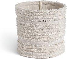 Habitat Boho Basket with Sequins - Cream