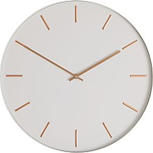 Habitat Bourke White Metal 40cm Wall Clock