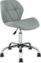 Habitat Boutique Faux Leather Office Chair - Grey