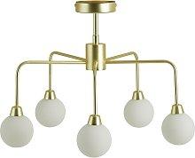Habitat Boyd Flush Ceiling Light - Brass