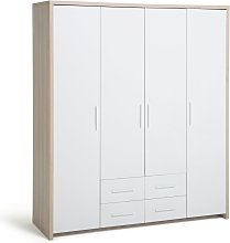 Habitat Broadway 4 Door 4 Drawer Wardrobe - Oak &