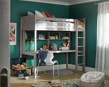 Habitat Brooklyn High Sleeper Bed, Desk & Shelf -