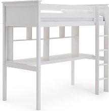 Habitat Brooklyn High Sleeper Bed, Desk & Shelves