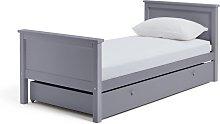 Habitat Brooklyn Single Bed with Drawer - Grey