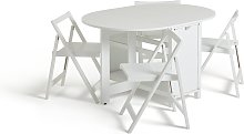 Habitat Butterfly Dining Table & 4 Chairs - White