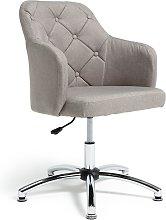 Habitat Button Back Fabric Office Chair - Grey