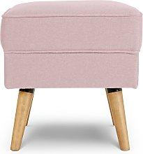 Habitat Callie Fabric Footstool - Blush Pink