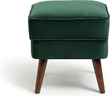 Habitat Callie Fabric Footstool - Forest Green