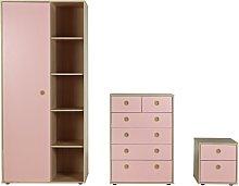 Habitat Camden 3 Piece 1 Door Wardrobe Set -Pink &