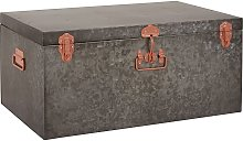 Habitat Carter Oversized Metal Storage Trunk - Grey