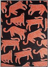 Habitat Cheetah Print Cotton Flatweave Rug